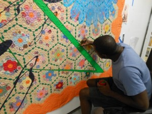 Sanford Biggers Artist, NYC Artist, Miami Art Scene, David Castillo Gallery