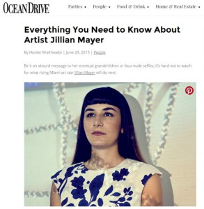 Ocean Drive, Ocean Drive magazine, Jillian Mayer, Miami, Miami Artist, Miami Art, Miami Design District, Locust Projects, Miami Art Scene, Art News in Miami, Art Info in Miami, Art info, artists, visual arts, W South Beach, Art Party, Art Event in Miami, Miami Beach