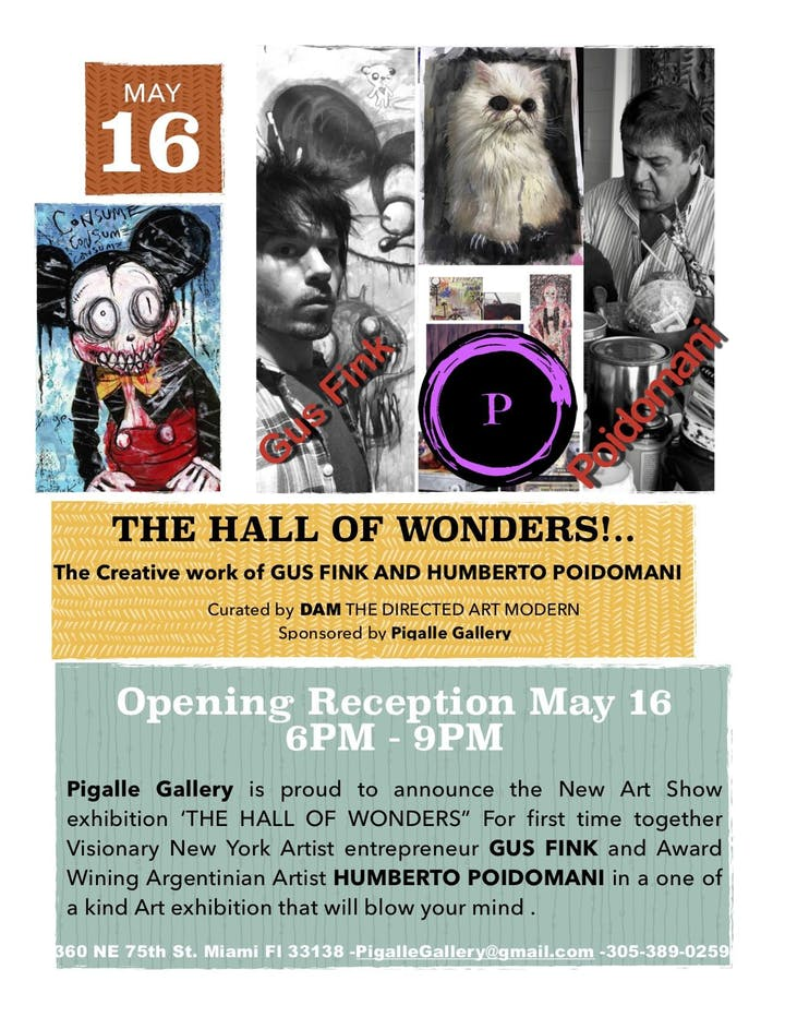Pigalle Gallery presents 'The Hall of Wonders' featuring Gus