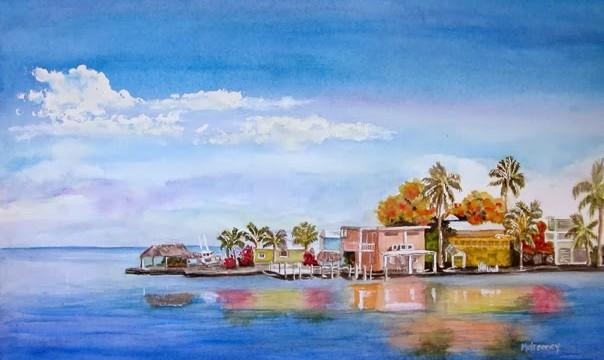 Miamibased Fine Art Watercolorist Terry Mulrooney - Painting miami